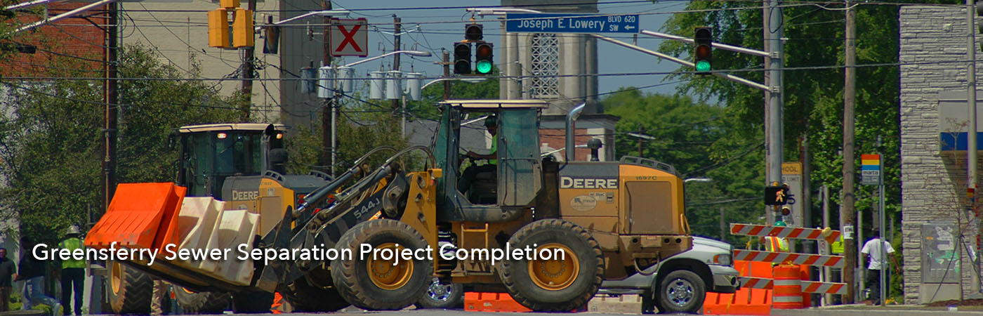 Greensferry Sewer Separation Project Completion